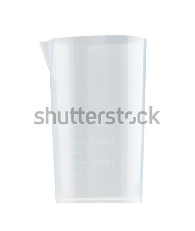 Clear measuring cup for bakery preparing isolated on white backg Stock photo © JohnKasawa