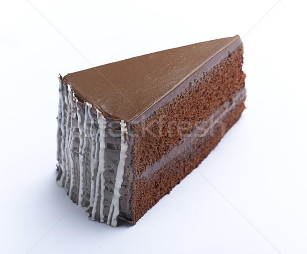 Ehető kávé torta cukormáz étel csokoládé Stock fotó © JohnKasawa