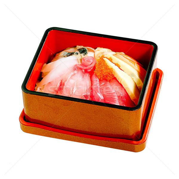 суши японская еда Закуска белый продовольствие Сток-фото © JohnKasawa