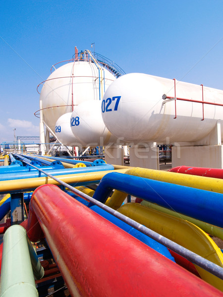 Stock photo: Gas transportation systems in the refinery plant
