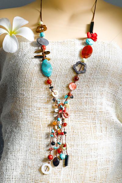Colorful beads necklace  Stock photo © JohnKasawa