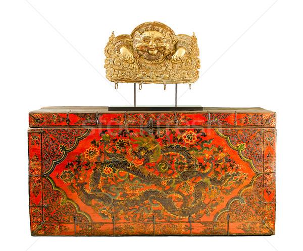 Antigua cuadro pintura budismo Biblia libros Foto stock © JohnKasawa