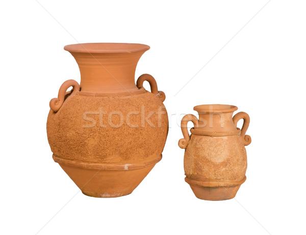 The nice handmade vase clay pottery isolates  Stock photo © JohnKasawa