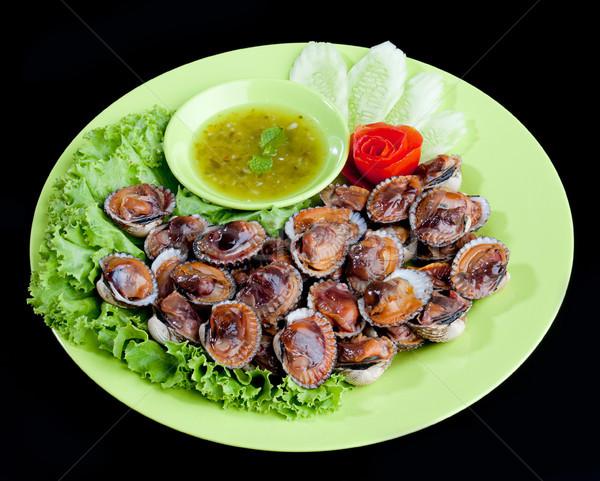 ızgara deniz ürünleri baharatlı mutfak restoran Stok fotoğraf © JohnKasawa