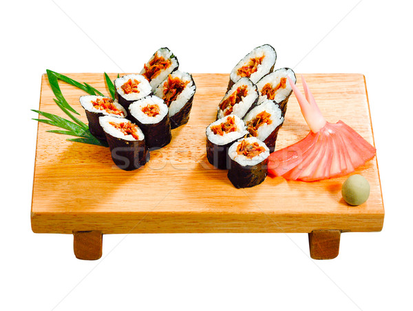 Rice Maki one of the Sushi Japanese food isolated  Stock photo © JohnKasawa