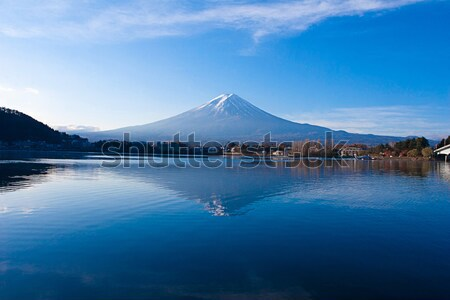 Stock photo: Beautiful Mt. Fuji in autumn, Japan