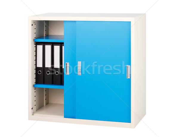 Blue cabinet streel factory furniture isolated on white backgrou Stock photo © JohnKasawa
