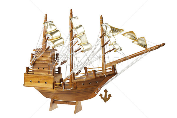 wooden handmade clipper ship for home decoration Stock photo © JohnKasawa