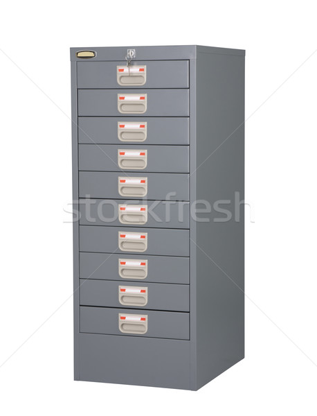 Steel cabinet furniture in gray color on white background Stock photo © JohnKasawa