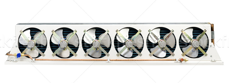 Air condenser unit, air condition cooling systems in a bus  Stock photo © JohnKasawa