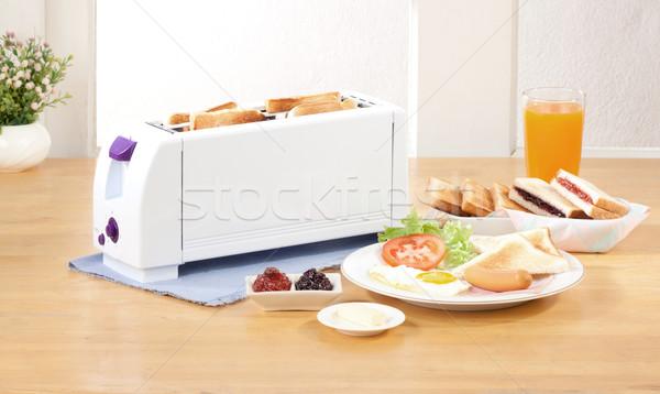 パン トースター キッチン ツール ガラス 金属 ストックフォト © JohnKasawa