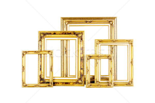 Luxury golden photo frames in different size isolated  Stock photo © JohnKasawa