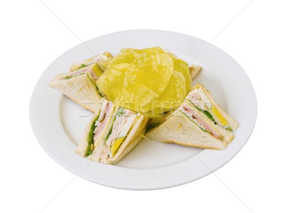A tasty of club sandwiches isolates on white   Stock photo © JohnKasawa