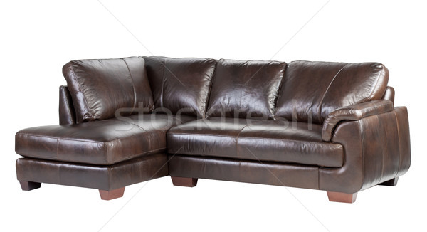 Soft and comfortable luxury genuine leather bench Stock photo © JohnKasawa