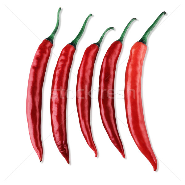 Red chili the salad or curry food seasoning Stock photo © JohnKasawa