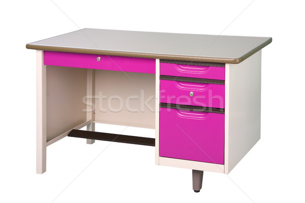 Cute Nice bureau acier inoxydable meubles violette Photo stock © JohnKasawa