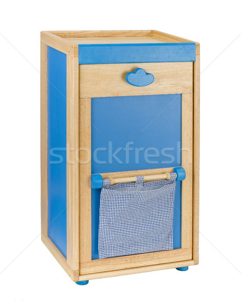 Wooden cabinet for kids to keeping there toys or stuffs Stock photo © JohnKasawa