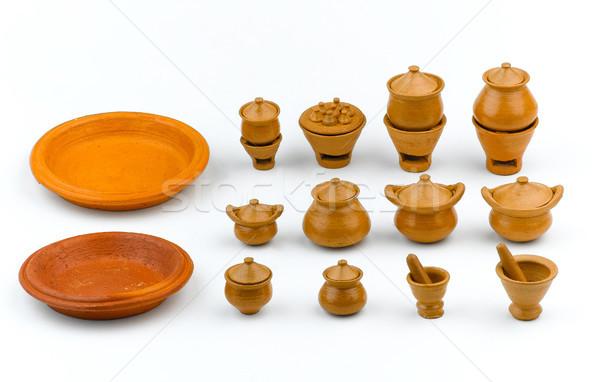 Handicraft asian earthenware clay toys isolated  Stock photo © JohnKasawa