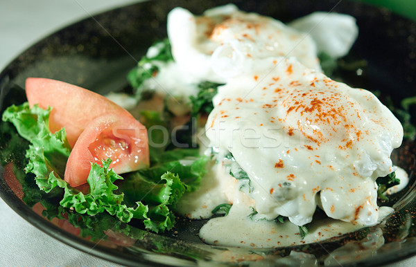 Spinach with cheese a tasty of Moroccan food  Stock photo © JohnKasawa