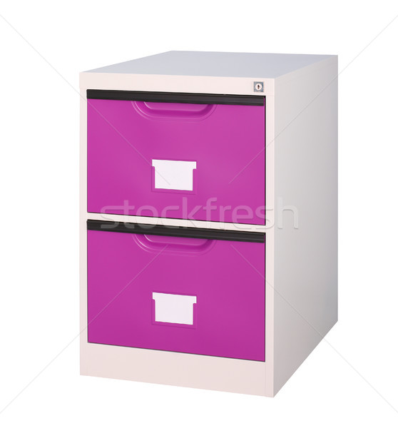 small and move able violet cupboard for storage documents in the Stock photo © JohnKasawa