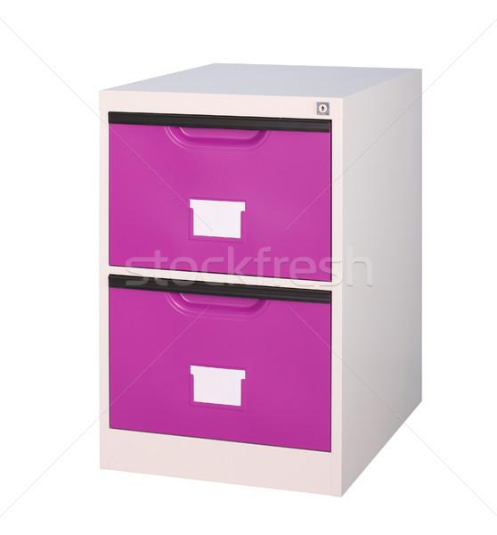 небольшой двигаться фиолетовый шкаф хранения документы Сток-фото © JohnKasawa