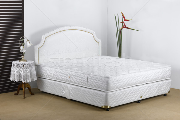 Bedding mattress in a set up bedroom atmosphere Stock photo © JohnKasawa