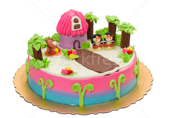 Red Indian camp, the birthday cake for young children Stock photo © JohnKasawa
