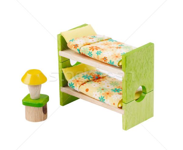 Foto stock: Cama · brinquedo · mobiliário · crianças · aprendizagem