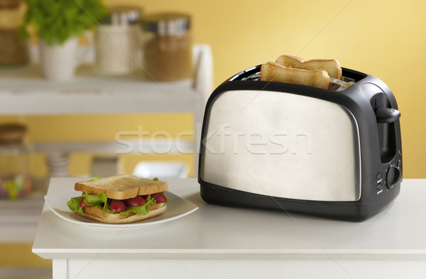 Cute and modern design of the bread toaster great for modern kit Stock photo © JohnKasawa