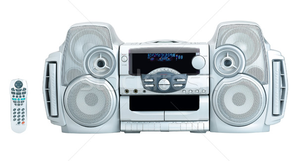 Stereo audio DVD CD player the home entertainment Stock photo © JohnKasawa