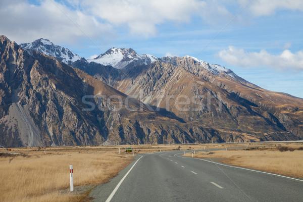 Road to Tasman valleys Aoraki Mount Cook National park Southern  Stock photo © JohnKasawa