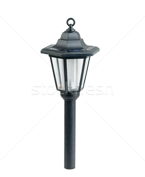 Solar cell lamp to help the earth from global warming crisis Stock photo © JohnKasawa