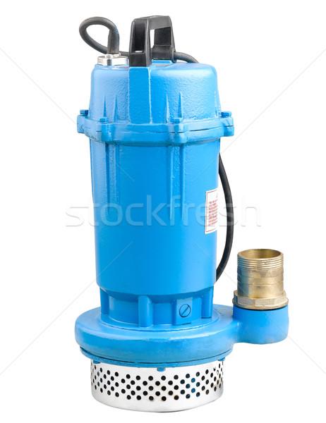 Kék elektromos víz pumpa házak farmok Stock fotó © JohnKasawa