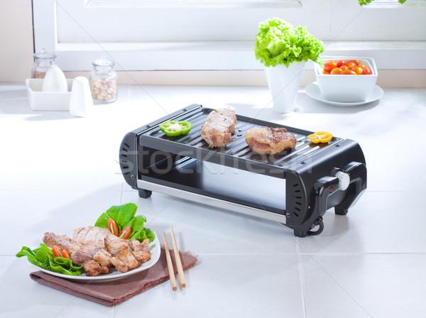 Toast grill biefstuk elektrische kachel groot Stockfoto © JohnKasawa