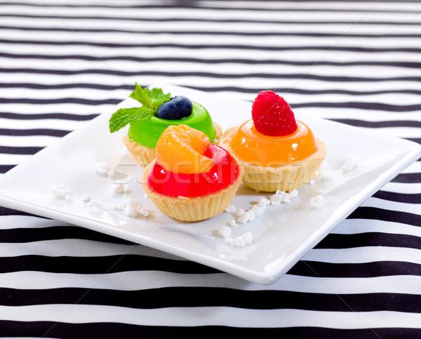 Foto stock: Frutas · preto · e · branco