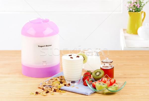 Make yogurt at home by yogurt making machine Stock photo © JohnKasawa