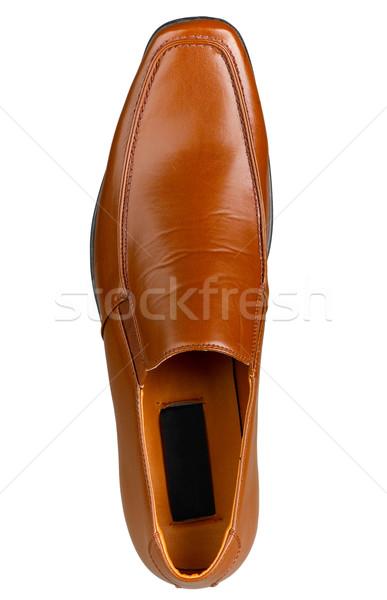 高級 ビジネスマン 靴 ブラウン 孤立した 白 ストックフォト © JohnKasawa