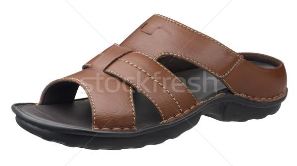 Smart brown leather sandals isolates on white background  Stock photo © JohnKasawa