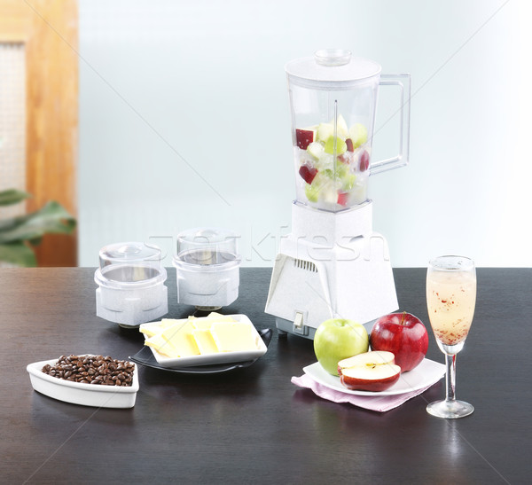 Fruits juice blender machine in the kitchen  Stock photo © JohnKasawa