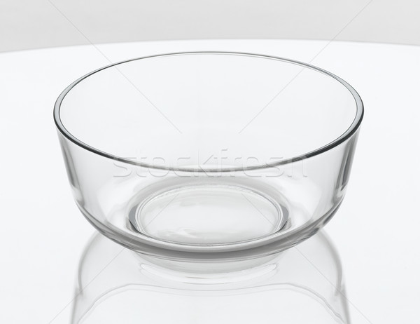 Empty clear salad bowl glass  Stock photo © JohnKasawa