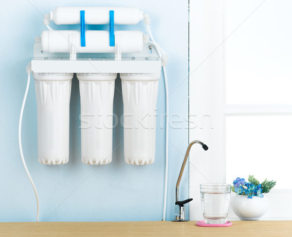 Home water filter to purify your drinking water Stock photo © JohnKasawa