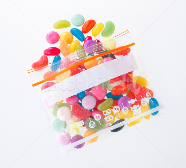 colorful candy in the zipper bag Stock photo © JohnKasawa