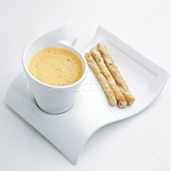 Cappuccino homard crème soupe pain poissons Photo stock © JohnKasawa