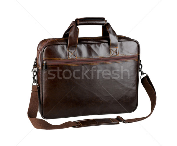 Nice and briefcase or computer bag made of genuine leather isola Stock photo © JohnKasawa
