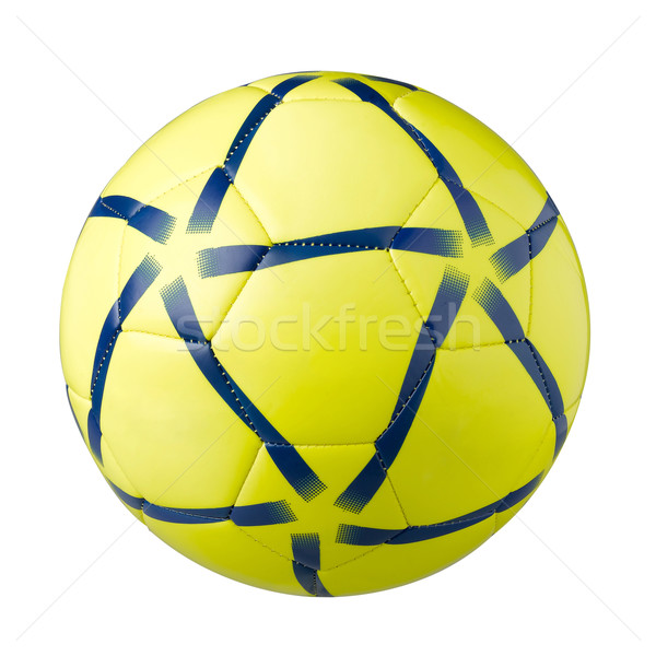 Yellow football a sporting goods isolated Stock photo © JohnKasawa