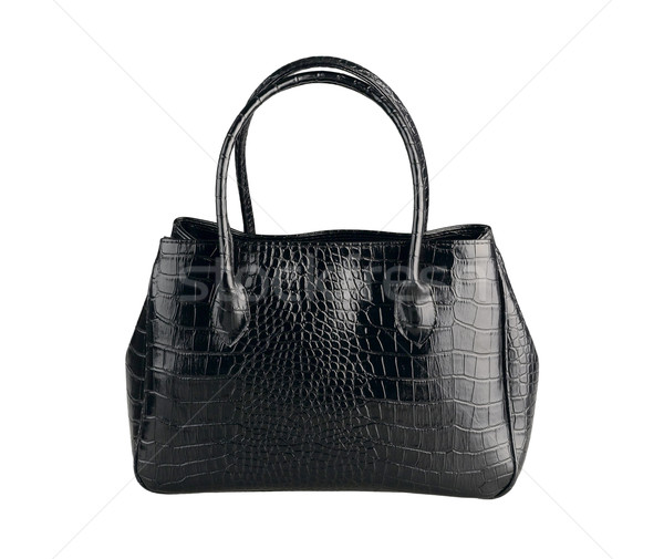 красивой черный кожа сумочка крокодила моде Сток-фото © JohnKasawa