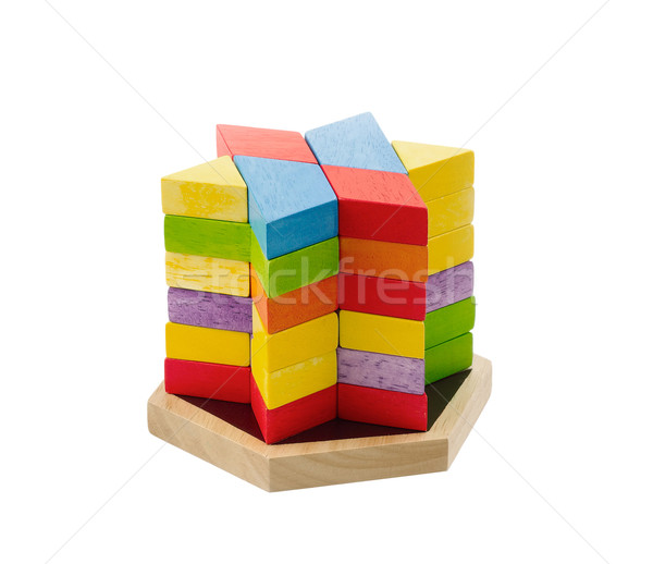 Wooden toy bricks isolates on white  Stock photo © JohnKasawa