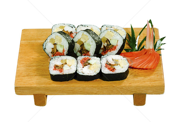 Sushi maki gosto comida japonesa isolado peixe Foto stock © JohnKasawa