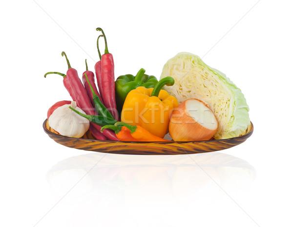 Foto stock: Legumes · frescura · jardim · fazenda · isolado · branco