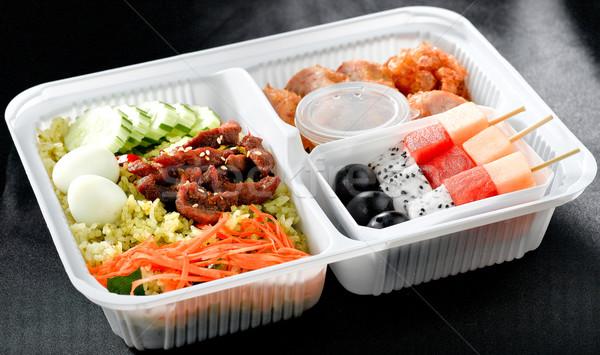 Snel vol voeding rijst varkensvlees Stockfoto © JohnKasawa